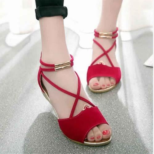 Jolie Style de Sandale plate Moderne 2