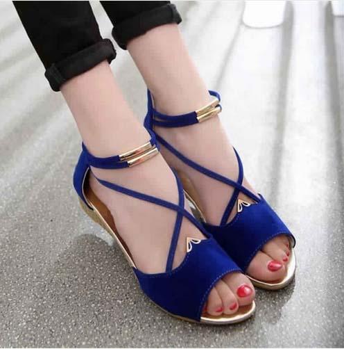 Jolie Style de Sandale plate Moderne 3