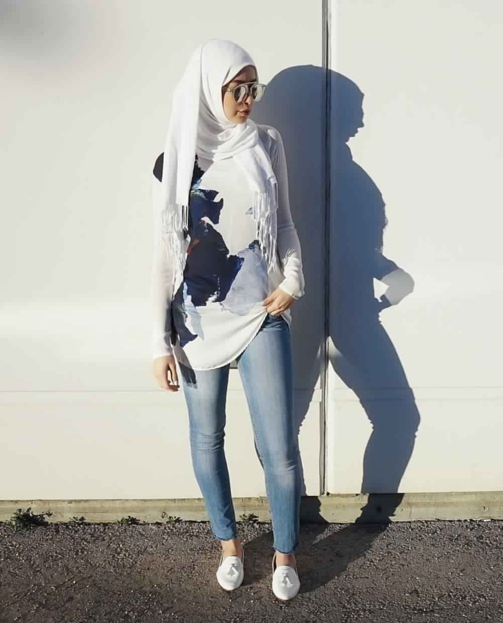 Looks Hijab avec un jean1