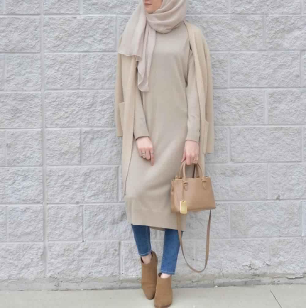 Looks Hijab avec un jean10