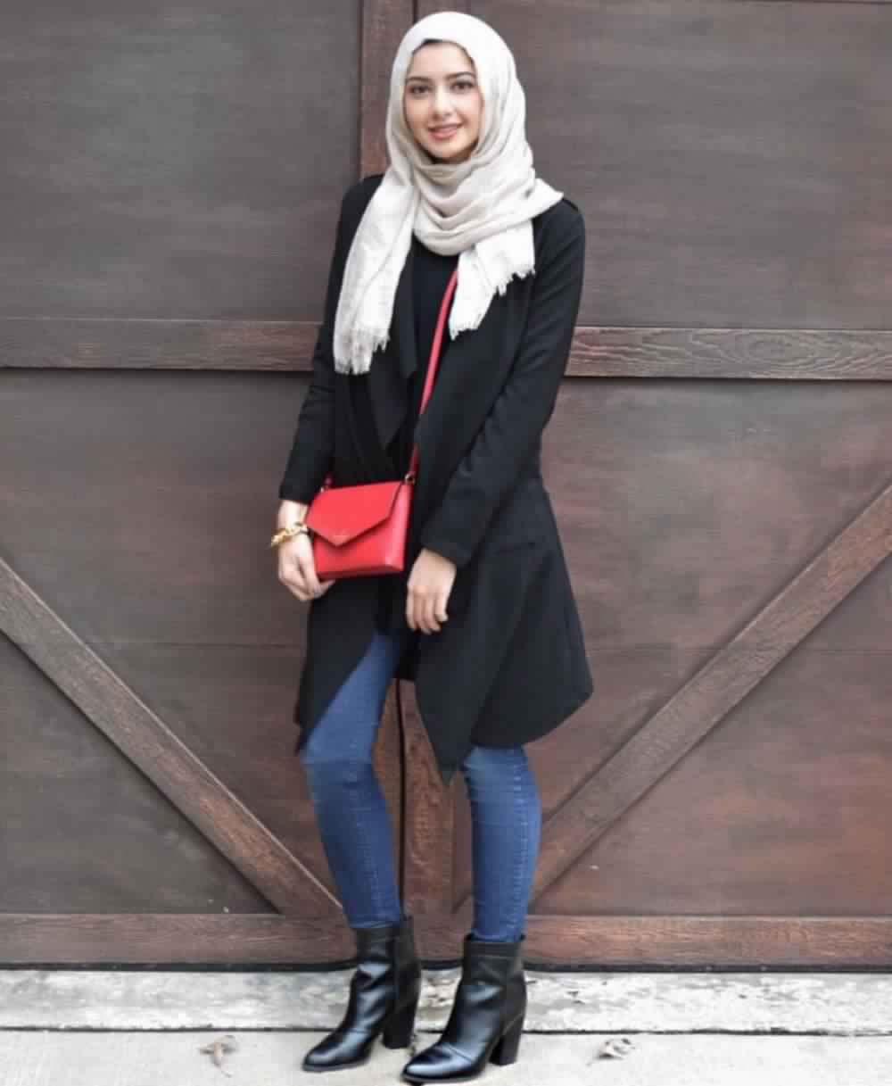 Looks Hijab avec un jean12