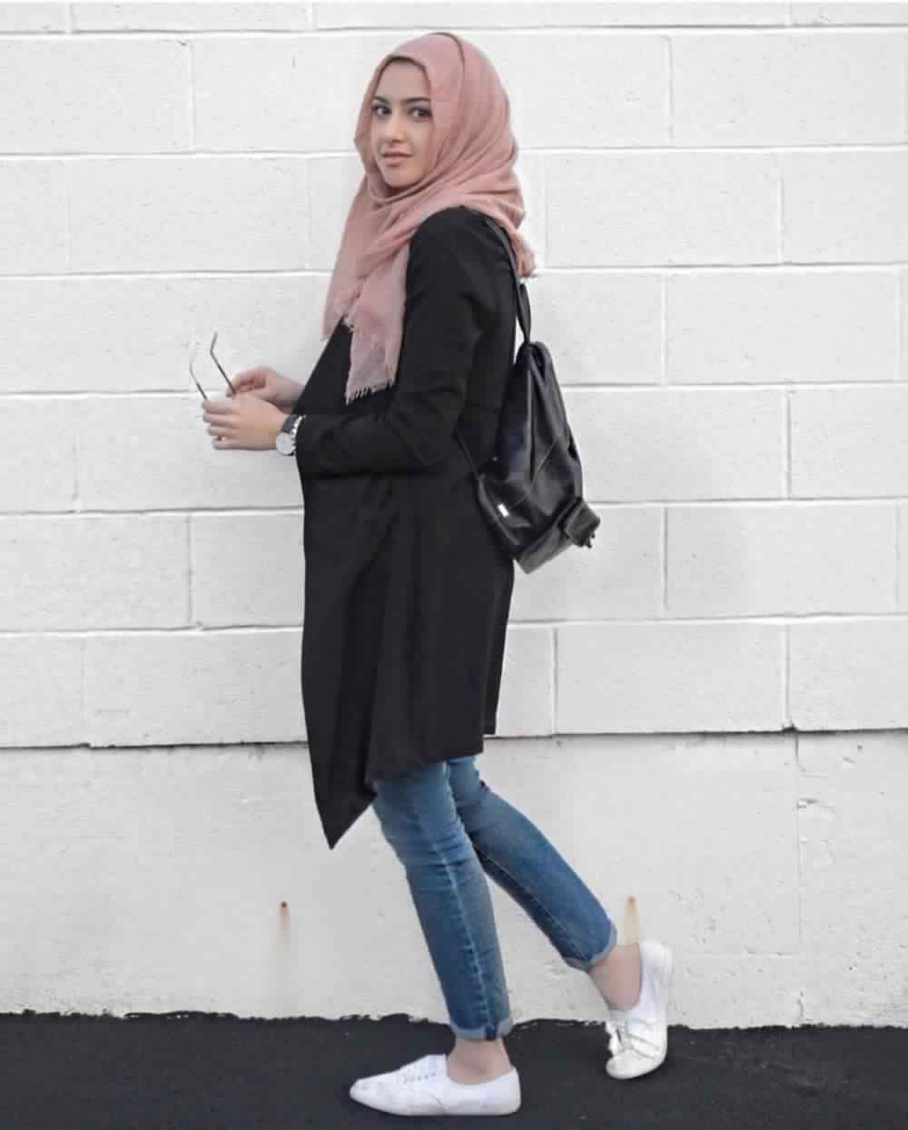Looks Hijab avec un jean13
