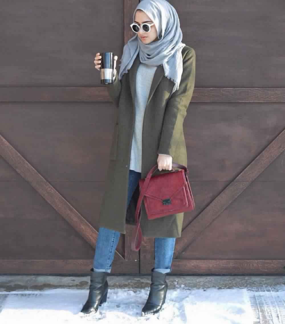 Looks Hijab avec un jean14