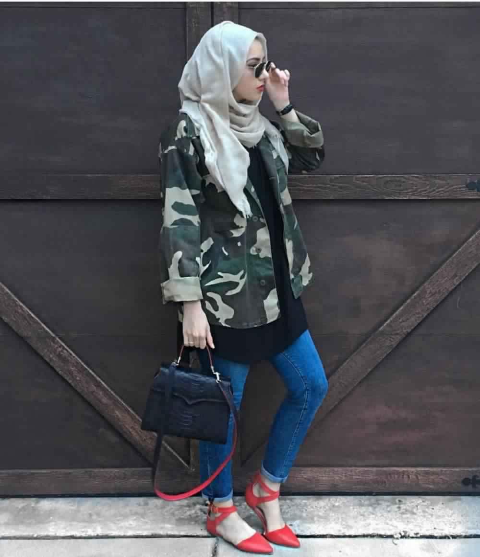 Looks Hijab avec un jean16