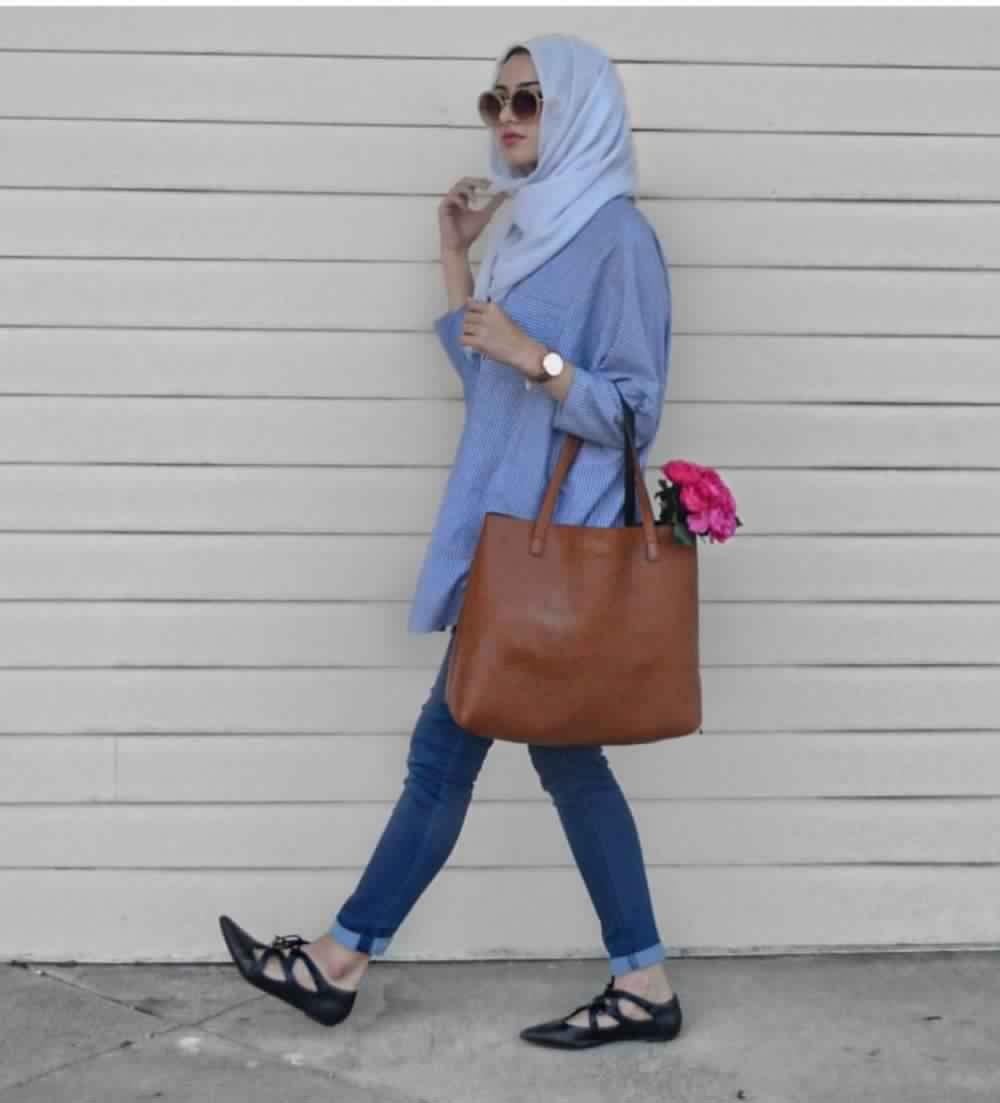 Looks Hijab avec un jean17