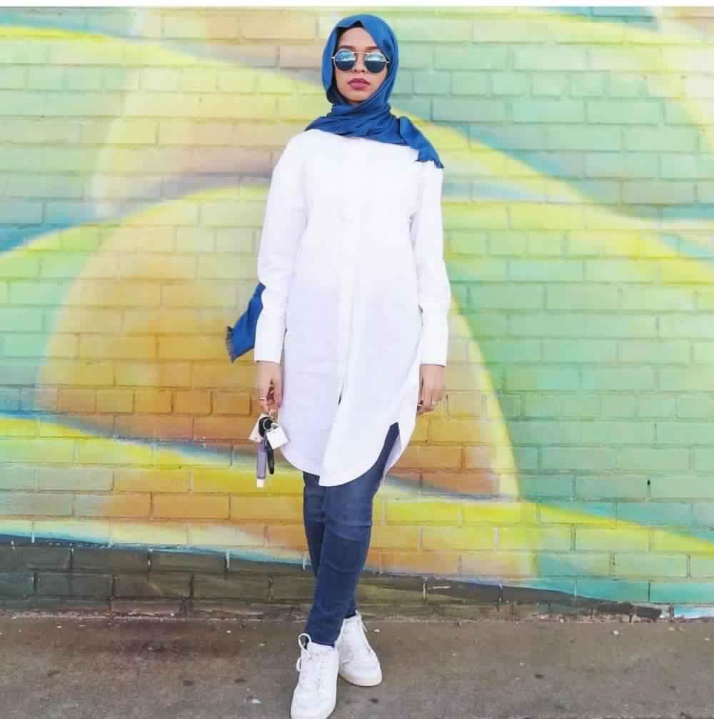 Looks Hijab avec un jean18