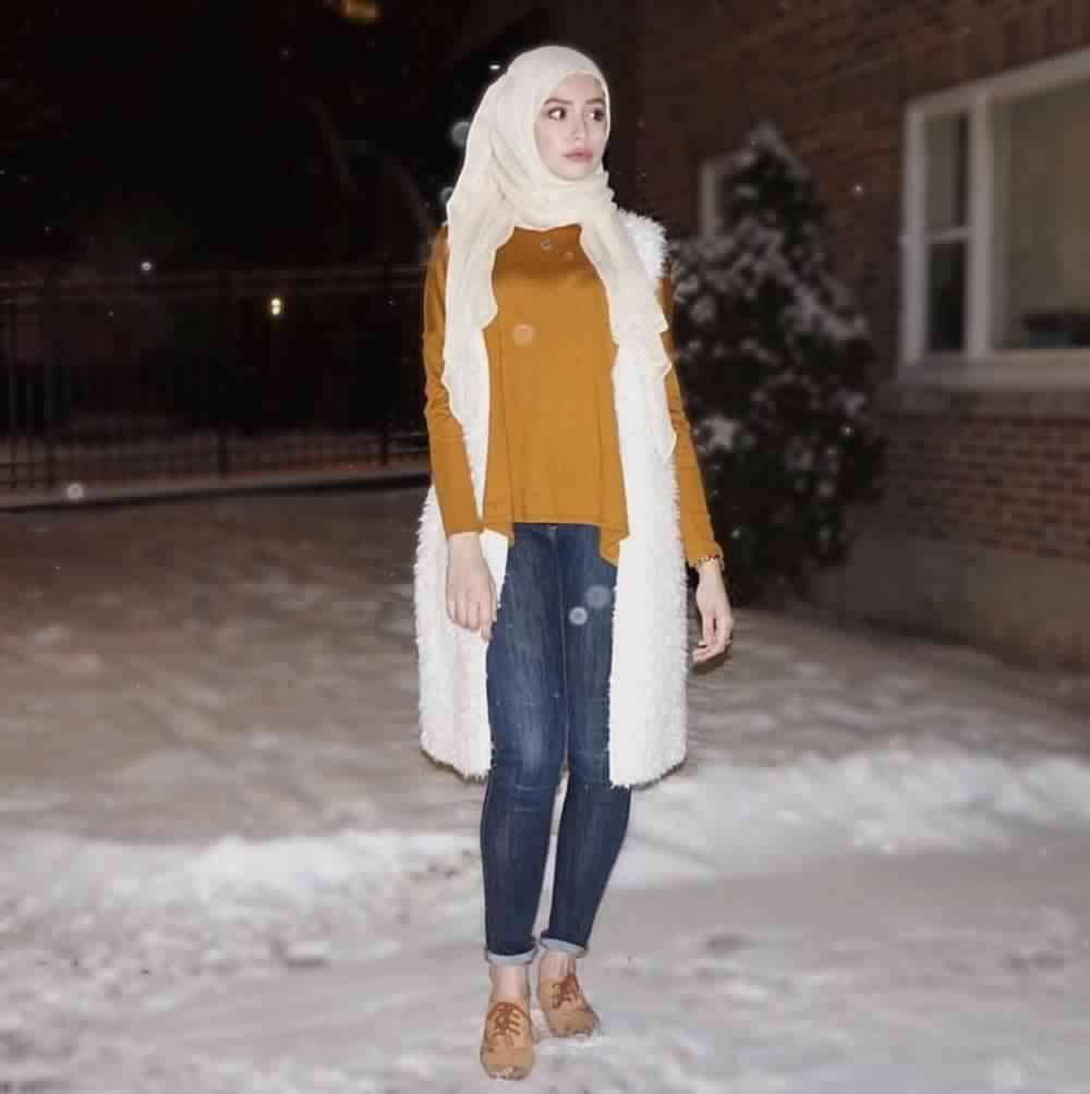 Looks Hijab avec un jean2