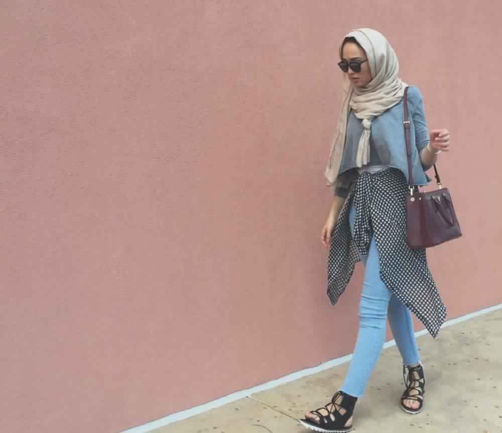 Looks Hijab avec un jean20