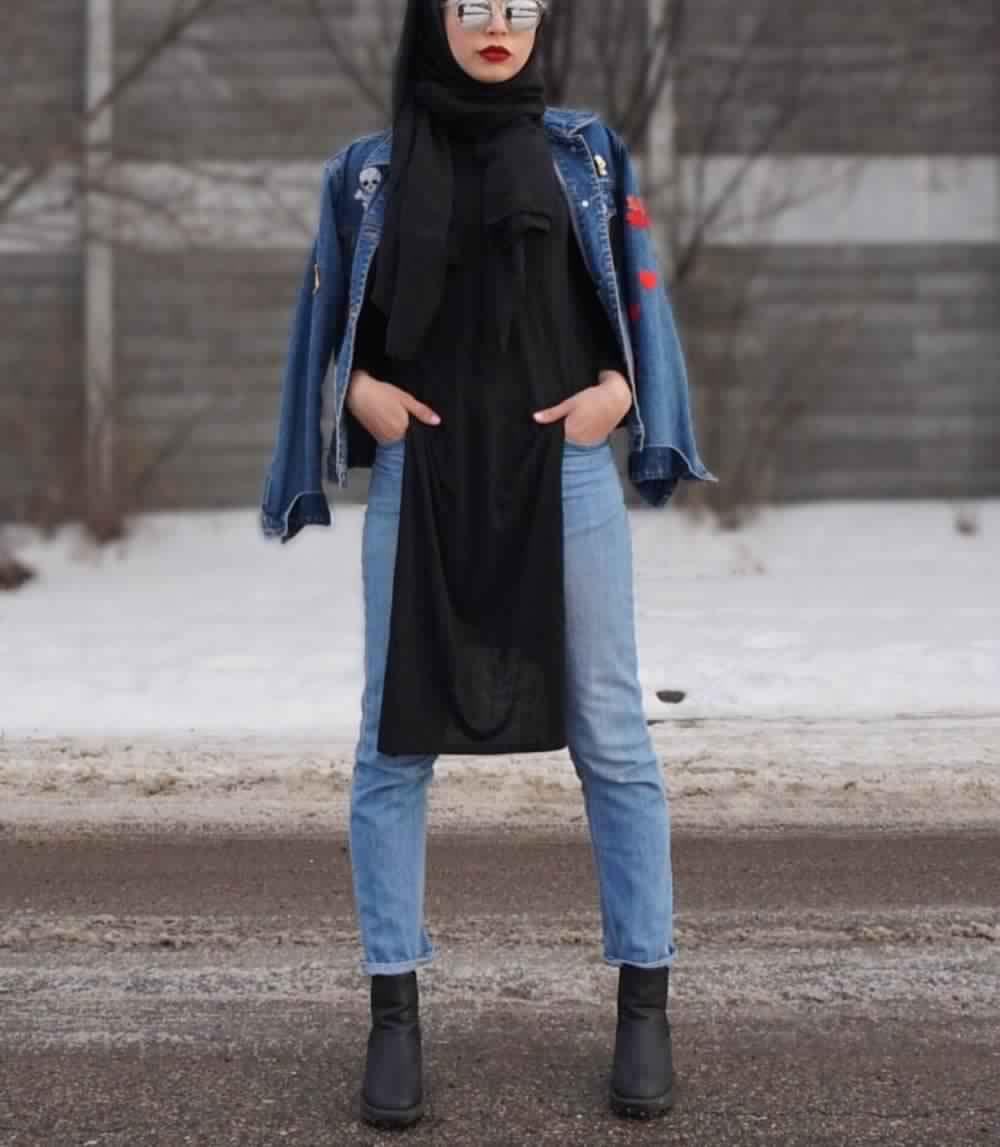Looks Hijab avec un jean4