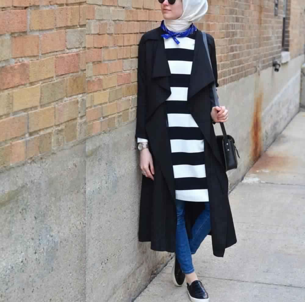Looks Hijab avec un jean8