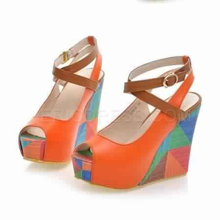 Sandale compensée multicolore 7
