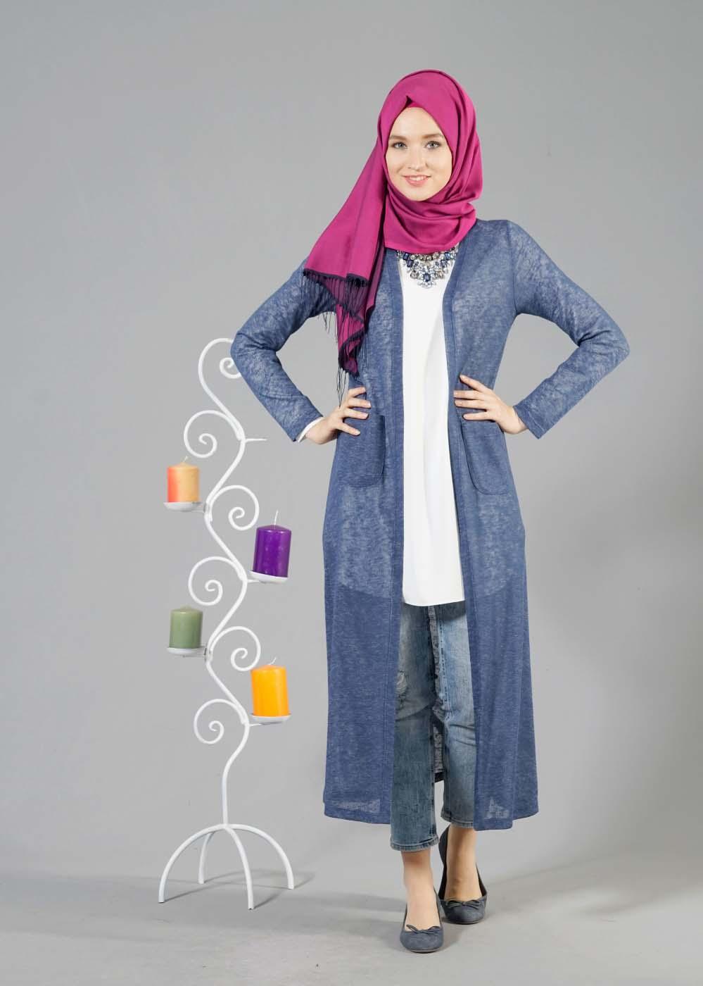 Tunique Longue Avec Un Jeans Perforé