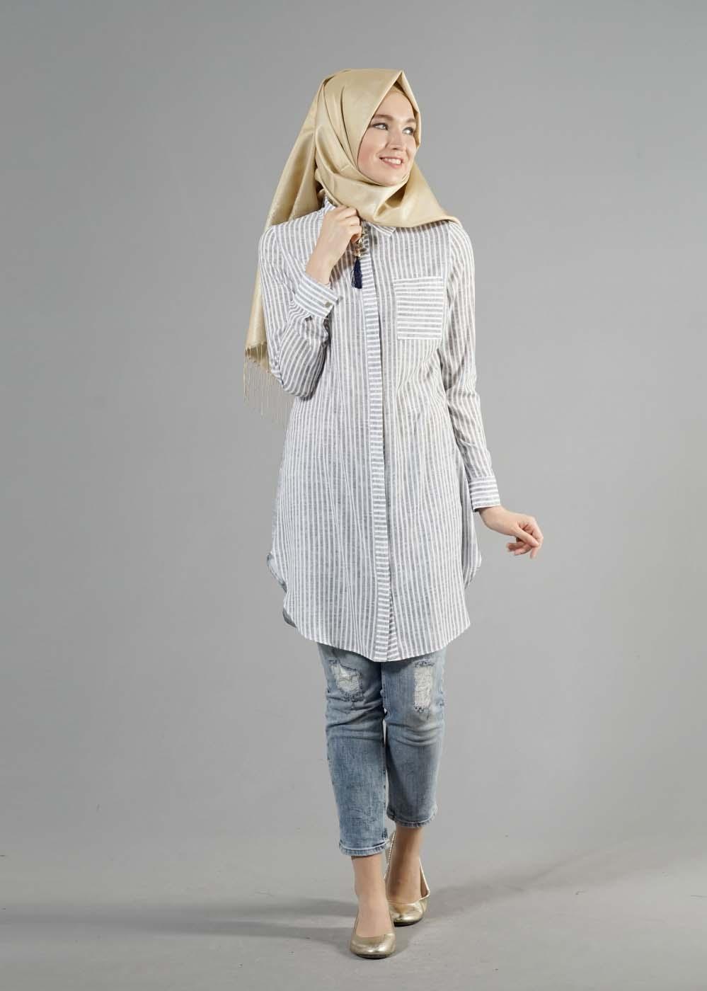 Tunique Longue Avec Un Jeans Perforé8