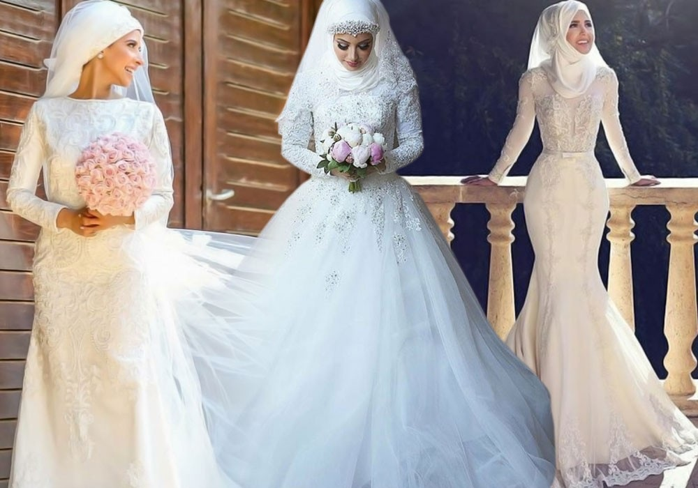 Robe de mariee pour femme voilee