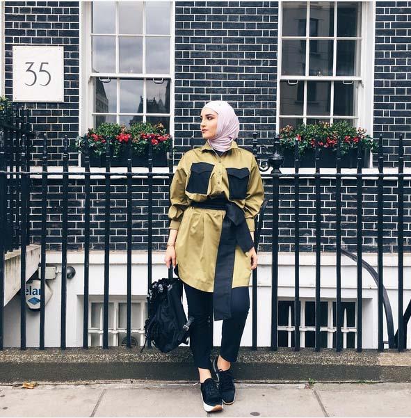 Magnifiques Idées De Tenue Hijab Tendance 2016 Pour vous Inspirer14