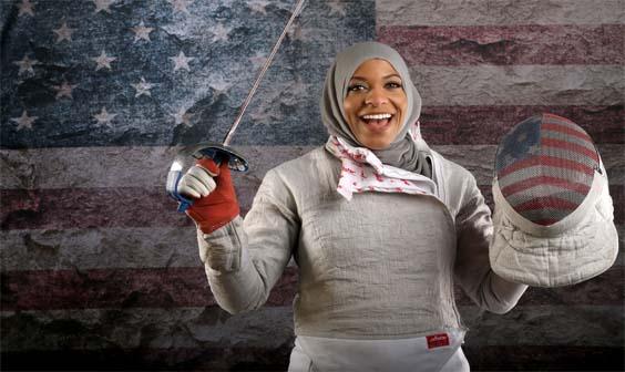 Première Athlète américaine à porter un Hijab au JO11