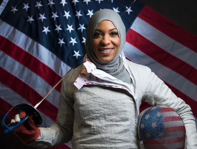 Première Athlète américaine à porter un Hijab au JO3