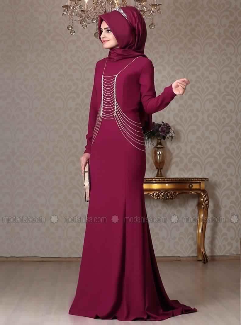 robe-de-soiree-pour-femme-voilee
