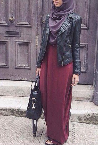 c5a334d1f31 ... Robes longues femme voilée à porter le quotidien. Profitez et inspirez  vous! astuc17e-hijab ...