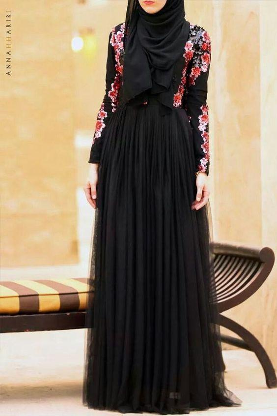 femme voil e 55 robes tendance automne hiver 2016 2017 astuces hijab. Black Bedroom Furniture Sets. Home Design Ideas