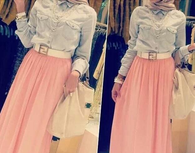 b14acacd6b0dc Jupe longue hiver hijab 2015   Sveikuoliai