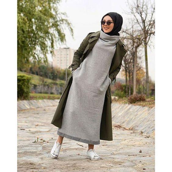 Extrêmement Hijab Chic : Comment Porter La Jupe Avec La Hijab En Hiver - 30  CX59