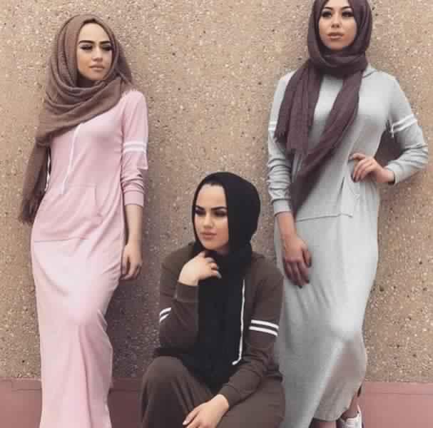 Styles Hijab de couleur Gris1