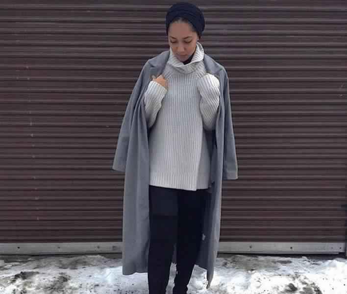 Styles Hijab de couleur Gris6