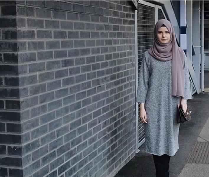 Styles Hijab de couleur Gris7
