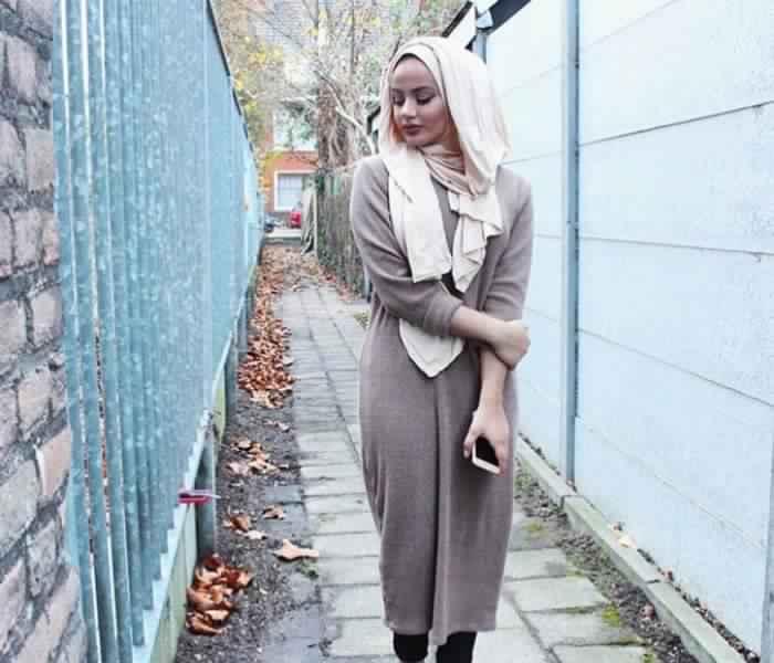 Styles Hijab de couleur Gris8