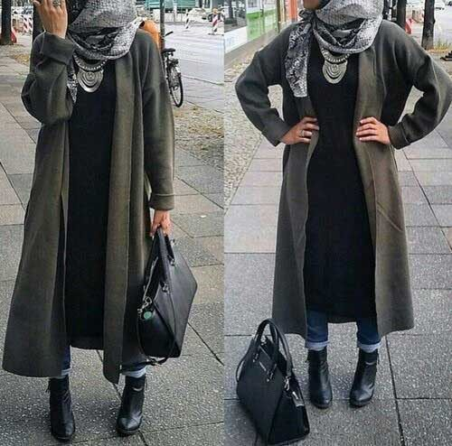 Sa Robe Longue Avec La Hijab3