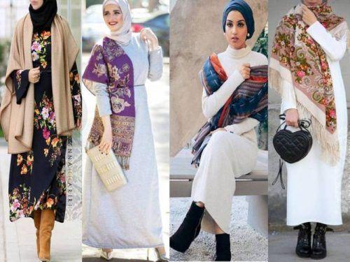 Sa Robe Longue Avec La Hijab9