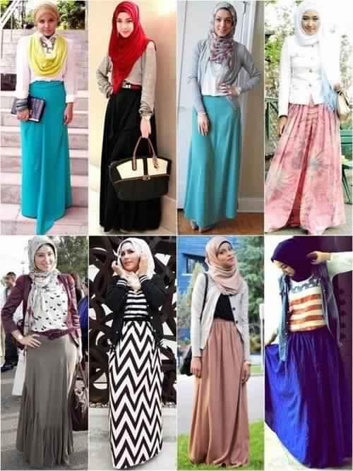 Alors, pour vous aider à bien Harmoniser votre Style de Hijab avec une Jupe  longue, Voici 30 modèles inspirants. Profitez et Inspirez Vous !!!